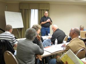 Bill Henderson speaking to Advisory Committee members